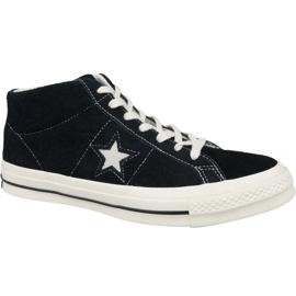 Converse One Star Ox Mid Vintage Suede M 157701C cipő fekete