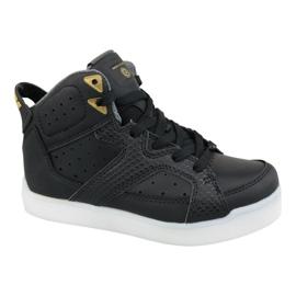 Fekete Skechers E-Pro Street Quest Lights Jr 90615L-BLK cipő