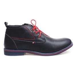 Magas szigetelt kötött cipő 86105 Navy haditengerészet
