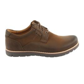 Csipkés cipő Riko 761 barna