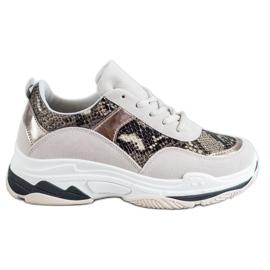 Kylie Snake Print cipők sokszínű
