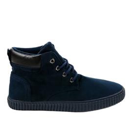 Haditengerészet Sötétkék szigetelt férfi cipők AN06