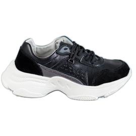 Vinceza fekete Csipkés sportcipő