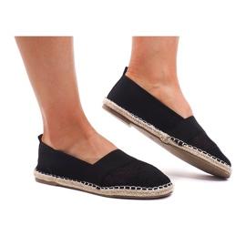 Áttört Espadrilles cipők 188-38 fekete