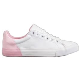 Bestelle Eko bőrből készült cipők fehér