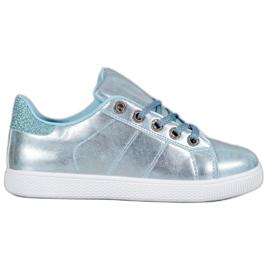 SHELOVET Cipők brokáddal kék