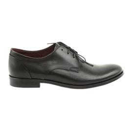 Bőrcipő Pilpol 1609 fekete