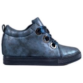 New Tlck Cipő, szalaggal megkötve kék