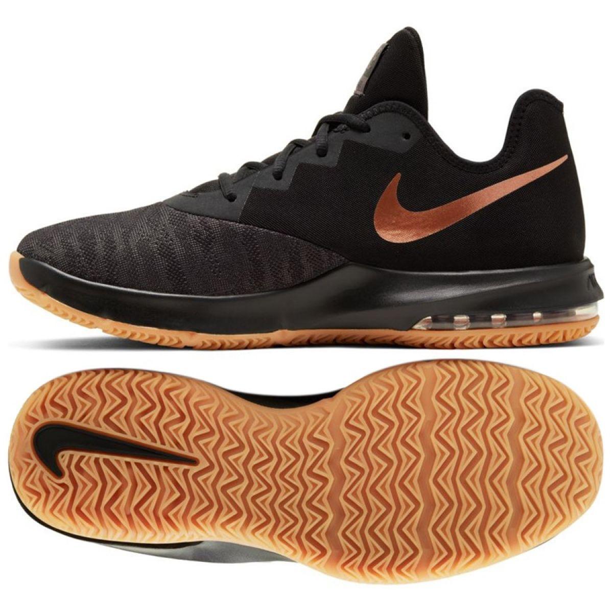 Nike Air Max Infuriate Iii Low M AJ5898 009 cipő fekete fekete