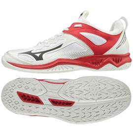 Mizuno Ghost Shadow M X1GA198008 beltéri cipő fehér fehér