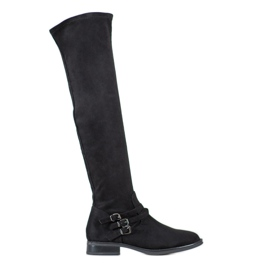 Kylie Magas sarkú cipő fekete