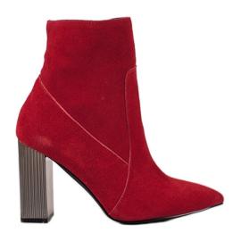 Goodin Szexi bőr csizma piros