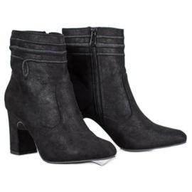 Kylie Suede magas sarkú cipő fekete