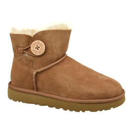 Ugg Mini Bailey Button II cipő W 1016422-CHE barna