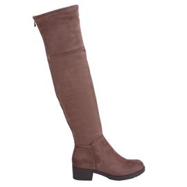 Női csizma és bézs-barna csizma 0-207 Khaki