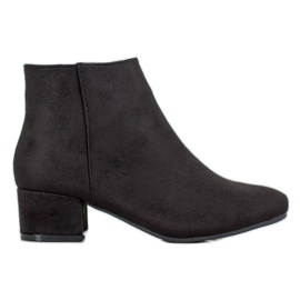 Mannika Klasszikus velúr cipő fekete