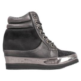 Sergio Leone Cipők kristályokkal fekete