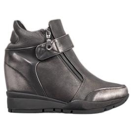 Sergio Leone Cipzáros cipők szürke