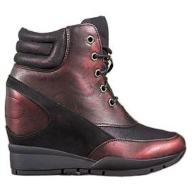 Sergio Leone Burgundi cipők piros