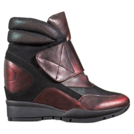 Sergio Leone Tépőzáras cipők piros