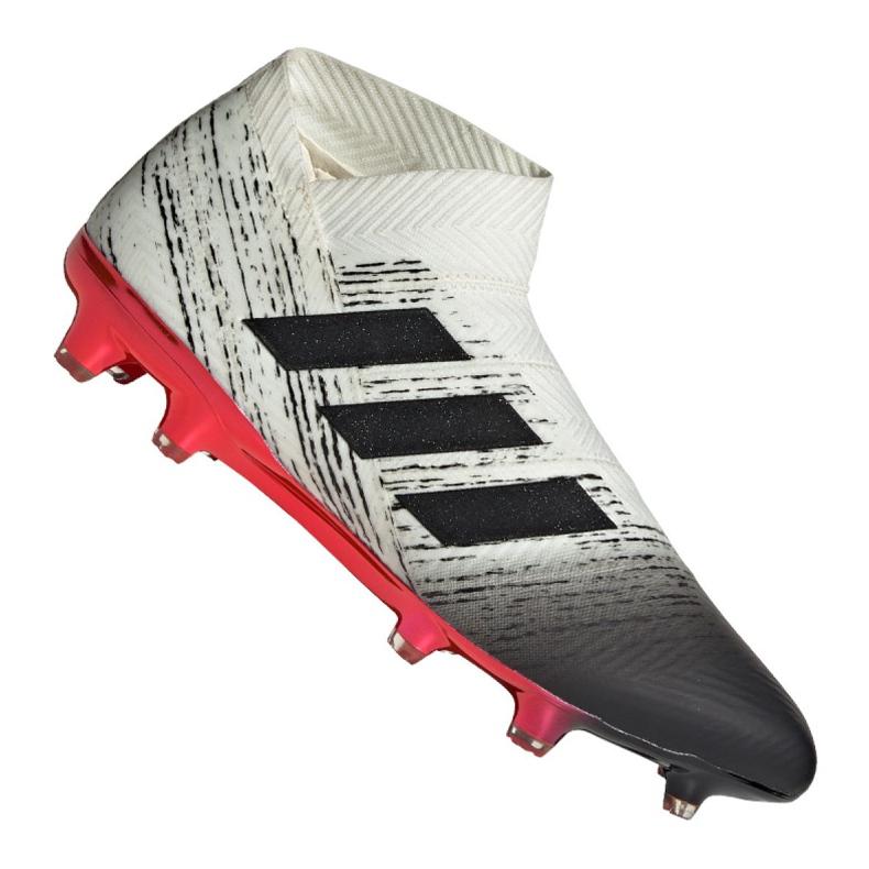 Nike Adidas Nemeziz 18+ Fg M BB9419 futballcipő fehér fehér, szürke / ezüst