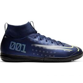Nike Mercurial Superfly 7 Academy Mds Ic Jr BQ5529 401 futballcipő haditengerészet sötétkék