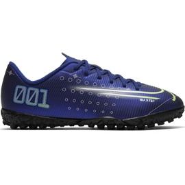Nike Mercurial Vapor 13 Academy Mds Tf Jr CJ1178 401 futballcipő haditengerészet sötétkék