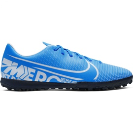 Nike Mercurial Vapor 13 Club M Tf AT7999 414 futballcipő kék kék