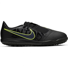 Nike Phantom Venom Academy Tf Jr AO0377 007 futballcipő fekete, zöld fekete