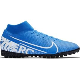 Nike Mercurial Superfly 7 Academy M Tf AT7978 414 futballcipő fehér, kék kék