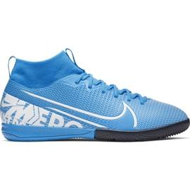 Nike Mercurial Superfly 7 Academy Ic Jr AT8135 414 futballcipő kék fehér, kék