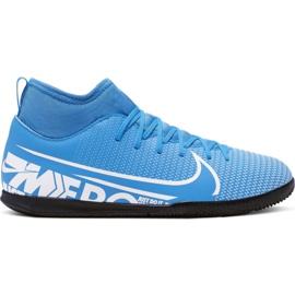 Nike Mercurial Superfly 7 Club Ic Jr AT8153 414 futballcipő fehér, kék kék