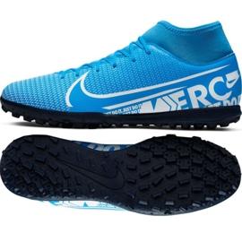 Nike Mercurial Superfly 7 Club M Tf AT7980 414 futballcipő fekete fekete, szürke / ezüst