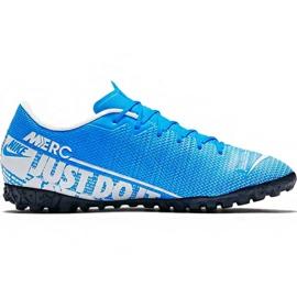 Nike Mercurial Vapor 13 Academy M Tf AT7996 414 futballcipő kék fehér, kék