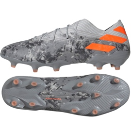 Adidas Nemeziz 19.1 Fg M EF8281 futballcipő szürke