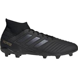 Adidas Predator 19.3 Fg M F35594 futballcipő fekete fekete