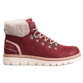 McKey Suede Boots piros