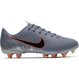 Nike Mercurial Vapor 12 Academy Mg Jr AH7347 408 futballcipő narancssárga, szürke / ezüst