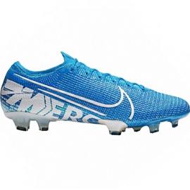 Nike Mercurial Vapor 13 Elite Fg M AQ4176 414 futballcipő fehér, kék