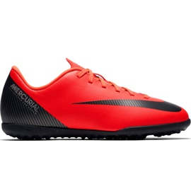 Nike Mercurial Vapor X 12 Club Gs CR7 Tf Jr AJ3106 600 futballcipő piros