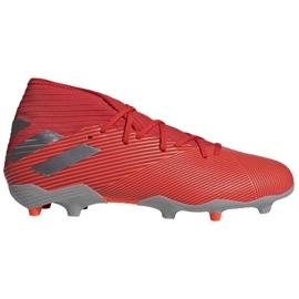 Adidas Nemeziz 19.3 Fg M F34389 futballcipő piros, szürke / ezüst