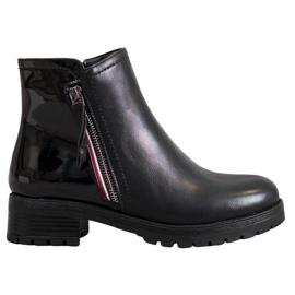 SHELOVET Munkavállalók dekoratív cipzárral fekete