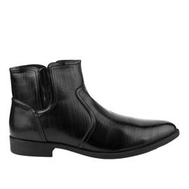 Fekete szigetelt alacsony cipő HL1005-2