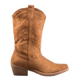 Seastar Csúsztatható cowboy csizma mintával barna