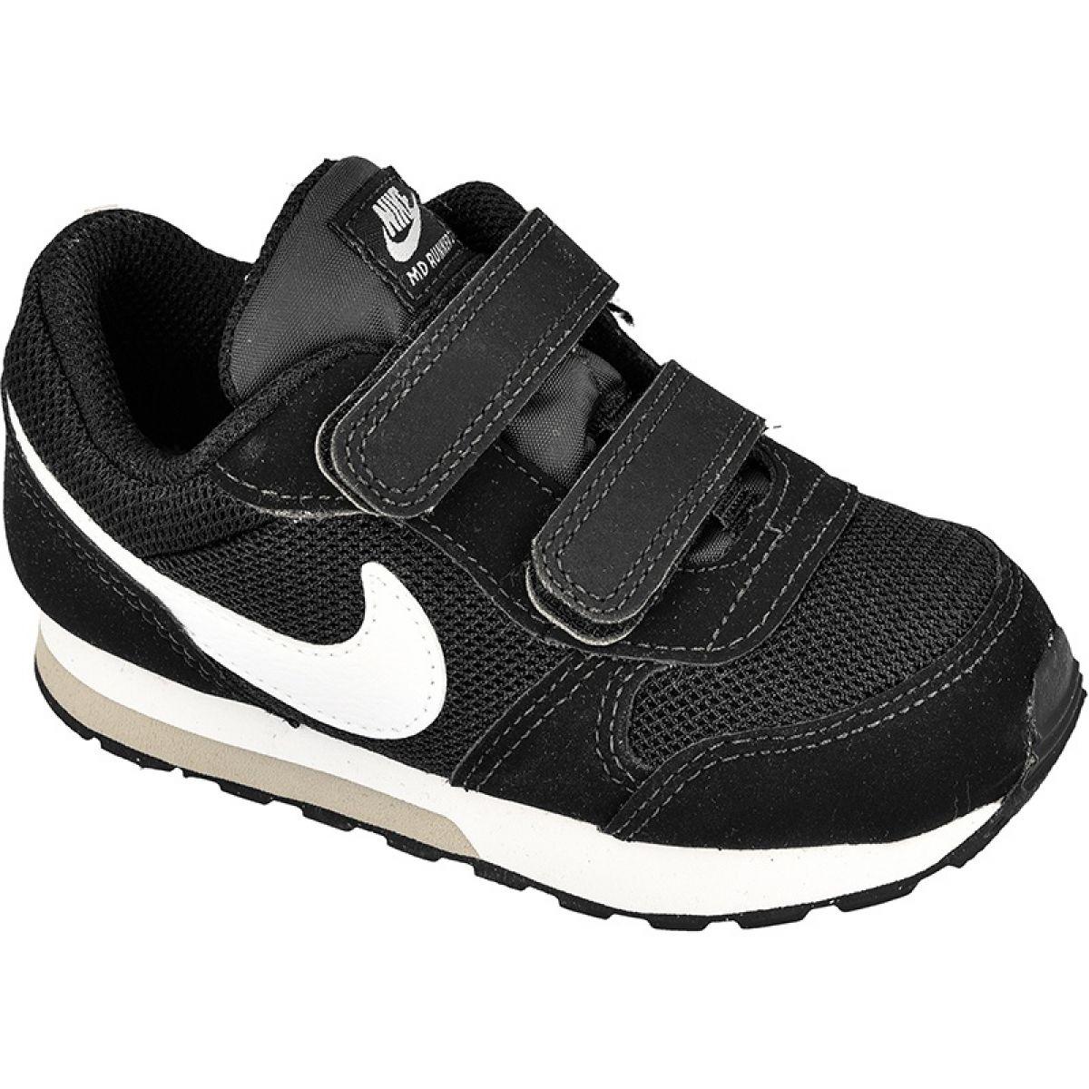 Nike, MD Runner Sneakers Cipő Tépőzáras Rögzítéssel, Fekete
