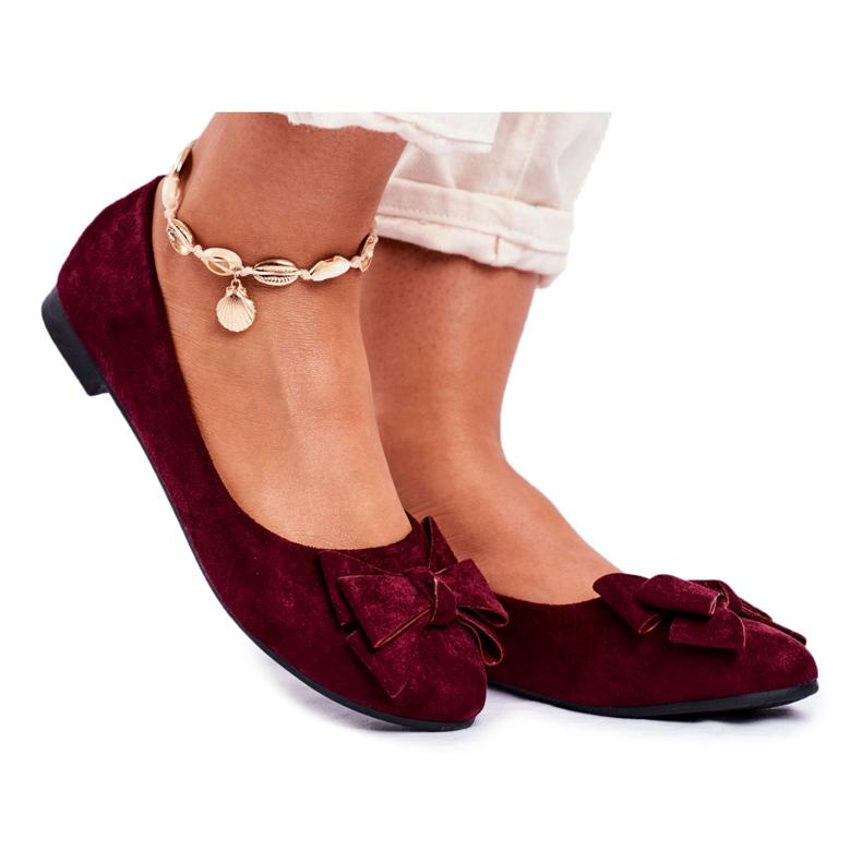 SEA Jordos női balerina cipő piros