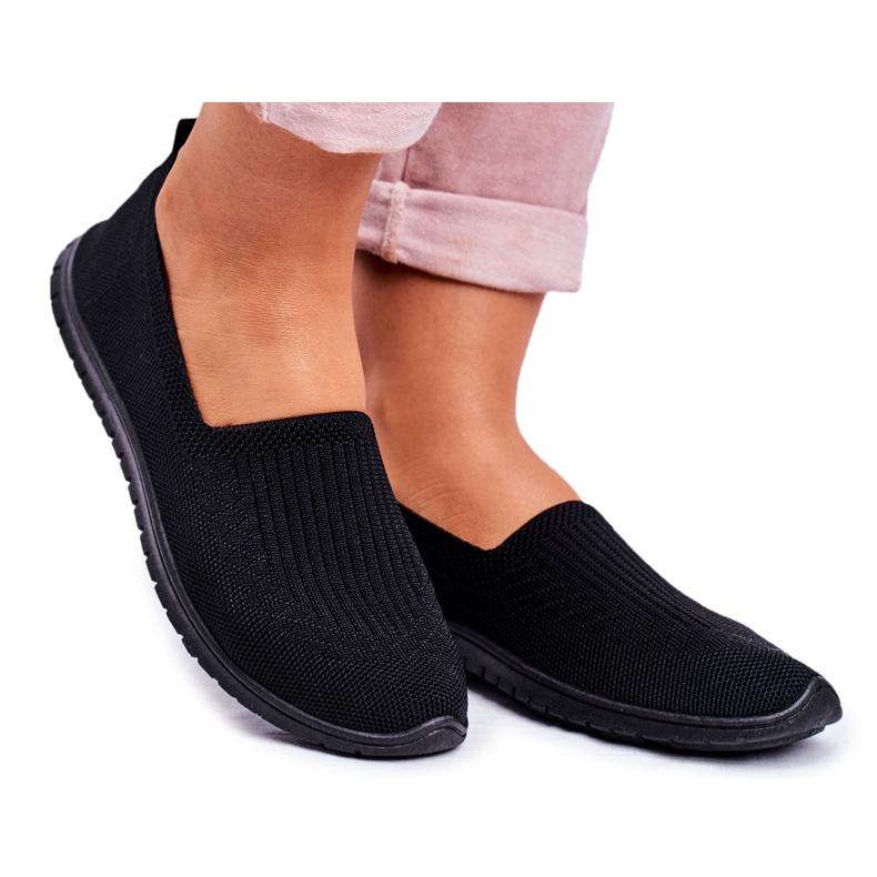 NEWS Kaontre női csíkos fekete cipők