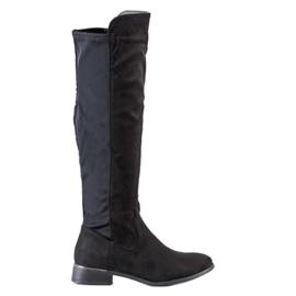 Anesia Paris Magas sarkú cipő fekete