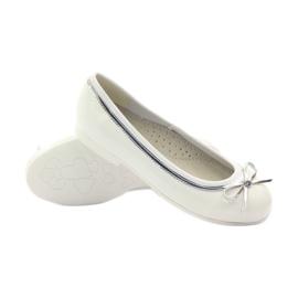 American Club Amerikai balerina szivattyúk fehér íj 3