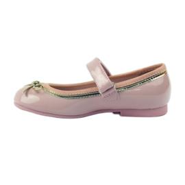 American Club Balerinas cipő amerikai íjjal rózsaszín 2